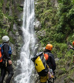 Rappelling a HUGE Waterfall in the Caribbean | Extreme Canyoning in Dominica