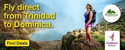 Fly direct from trinidad to dominica